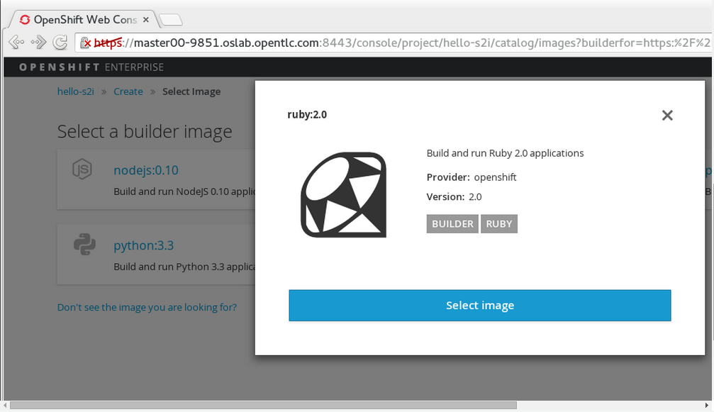 5  Creating Your First Image - OpenShift - rockPLACE Wiki